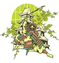Japanese design vector image