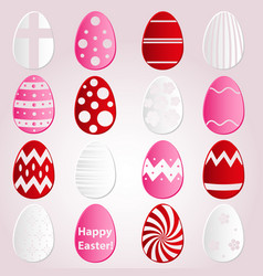 Various easter eggs design from color paper vector