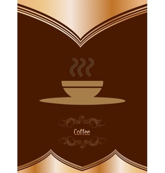 Vintage card with coffee mug vector image