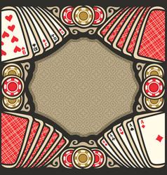 Poster for poker vector