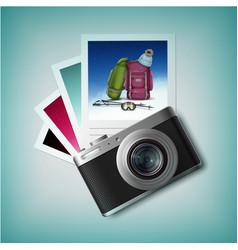 Photo camera with snapshots vector