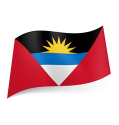 State flag of antigua and barbuda vector