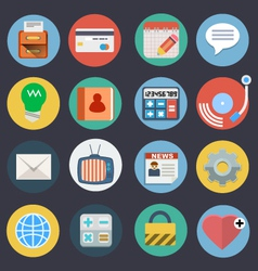 Flat icons for web and applications set 2 vector