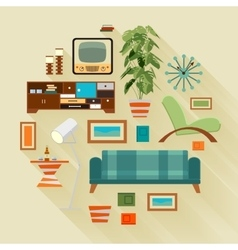 Living room stuff vector