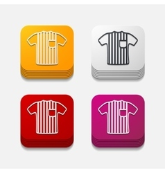 Square button referee vector