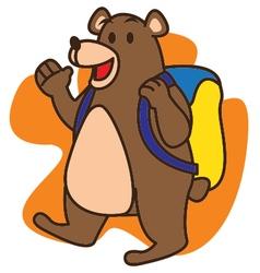 Bear School vector image