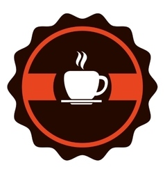 Coffee shop label icon vector