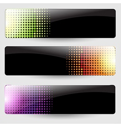 Abstract Black Banners Set vector image
