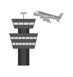 Air control tower vector