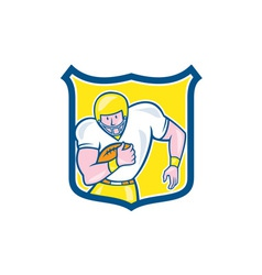 American football fullback shield retro vector