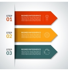 Arrow infographic design template vector image
