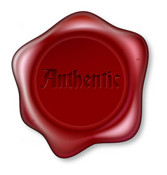 authentic red wax seal vector image vector image