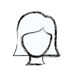 Blurred silhouette faceless woman with straight vector