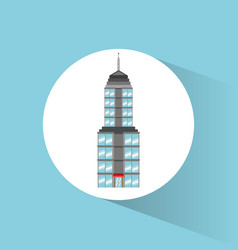 building landmark travel icon vector image vector image