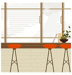 Cafe Bar Interior vector image vector image
