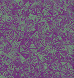 Chaotic triangle mosaic tile background vector