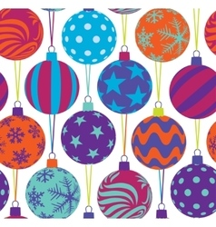 Christmas tree balls seamless pattern vector