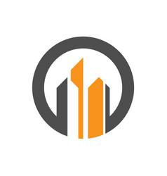 Circle building company logo vector