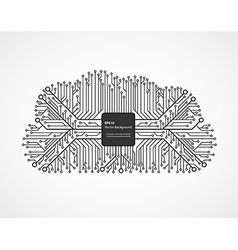 Cloud computing technology in an electronic vector image