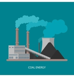 Coal power plant and factory energy industrial vector