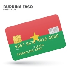 Credit card with Burkina Faso flag background for vector image vector image