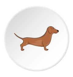 Dachshund dog icon cartoon style vector