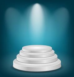 Empty white podium with light vector