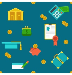 Endless education loan and banking background vector image