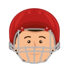 Football american helmet icon vector