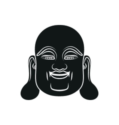 Head of Fat Buddha isolated vector image vector image