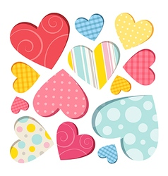Hearts isolated vector image vector image