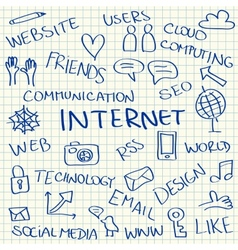 Internet doodles vector image