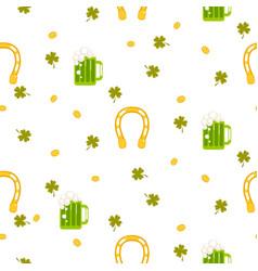 irish st patrick celebration party seamless vector image