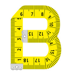 Letter b ruler icon cartoon style vector