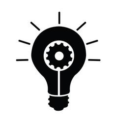 light bulb silhouette vector image
