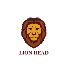 Lion head logo design vector