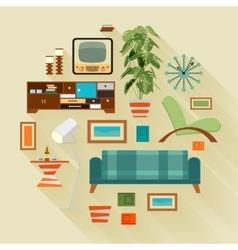 Living room stuff vector image