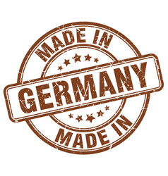 Made in germany brown grunge round stamp vector