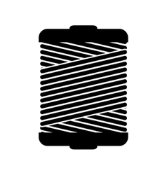 Monochrome silhouette wiht thread spool vector