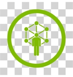 Network Administrator Flat Rounded Icon vector image