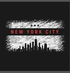New york city t-shirt and apparel grunge style vector