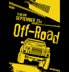 Offroad event poster vector