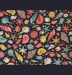 sea shells pattern vector image vector image
