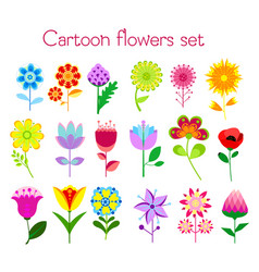 set of cartoon style colorful vector image vector image
