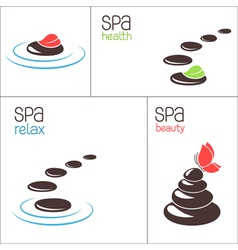 SPA stones and pebbles vector image