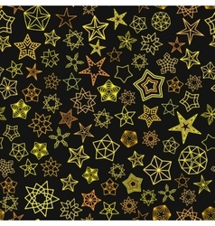 Stars pattern from golden starry elements vector