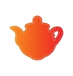 Tea maker sign Orange applique isolated vector image vector image