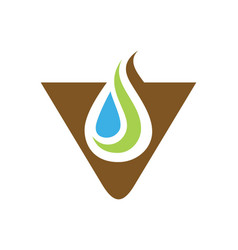 Triangle droplet bio ecology logo vector