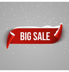 Winter bug sale background with red realistic vector
