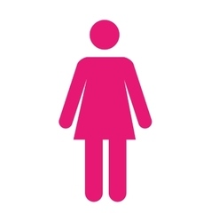 woman pictogram pink icon vector image vector image